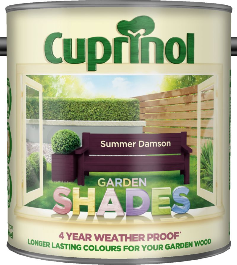Cuprinol Garden Shades Paint Summer Damson 1L