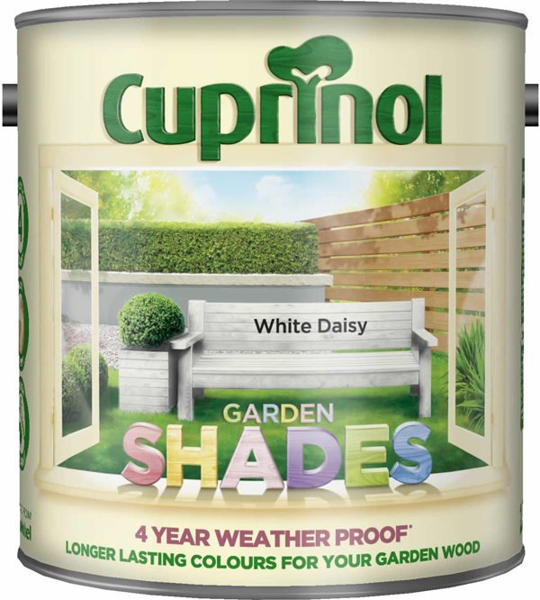 Cuprinol Garden Shades Paint White Daisy 2.5L