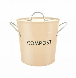 Eddington Stainless Steel Compost Pail - Buttercream