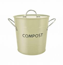 Eddington Stainless Steel Compost Pail - Sage
