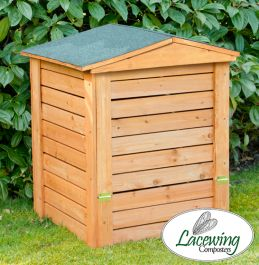 Hinged Lid Wooden Garden Composter - 288L by Lacewing­™