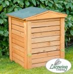 Hinged Lid Wooden Garden Composter - 288L by Lacewing��