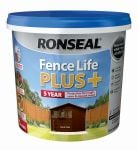 Ronseal Fence Life Plus 5ltr - Dark Oak
