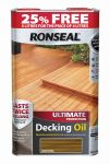 Ronseal Ultimate Decking Oil 4ltr - Natural