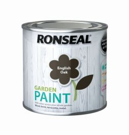 Ronseal Garden Paint 250ml - English Oak