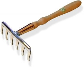 32cm Bronze / Copper Atik Mini-Rake Hand Tool