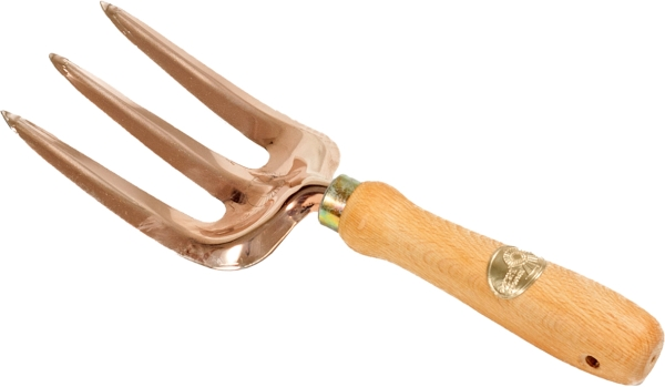 27.5cm Bronze / Copper Vega Hand Three Prong Fork