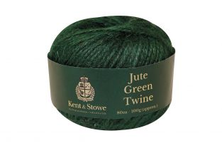 80m/100gm Jute Twine Green by Kent & Stowe