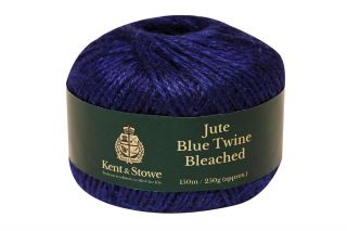 150m/250gm Jute Twine Bleached Blue by Kent & Stowe