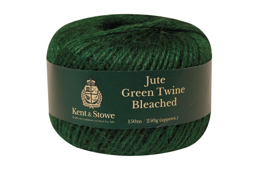 150m/250gm Jute Twine Bleached Green by Kent & Stowe