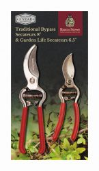 27cm Traditional Bypass and Garden Life Secateurs by Kent & Stowe