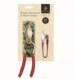 Garden Life Secatuers and Micro Snip Twin Pack by Kent & Stowe