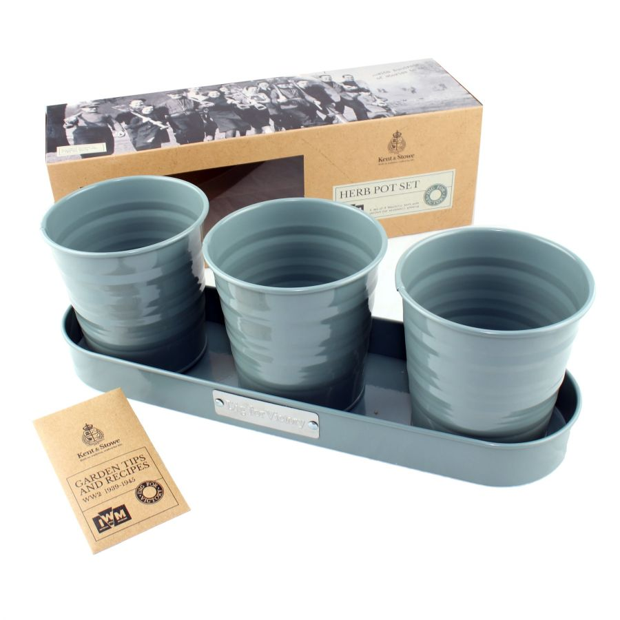 32cm Dig For Victory Trio of Herb Pots by Kent & Stowe