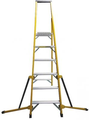 Stabilised Fibreglass Stepladder - 4 Tread