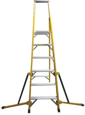 Stabilised Fibreglass Stepladder - 5 Tread
