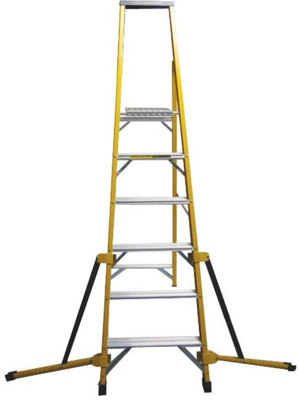 Stabilised Fibreglass Stepladder - 6 Tread