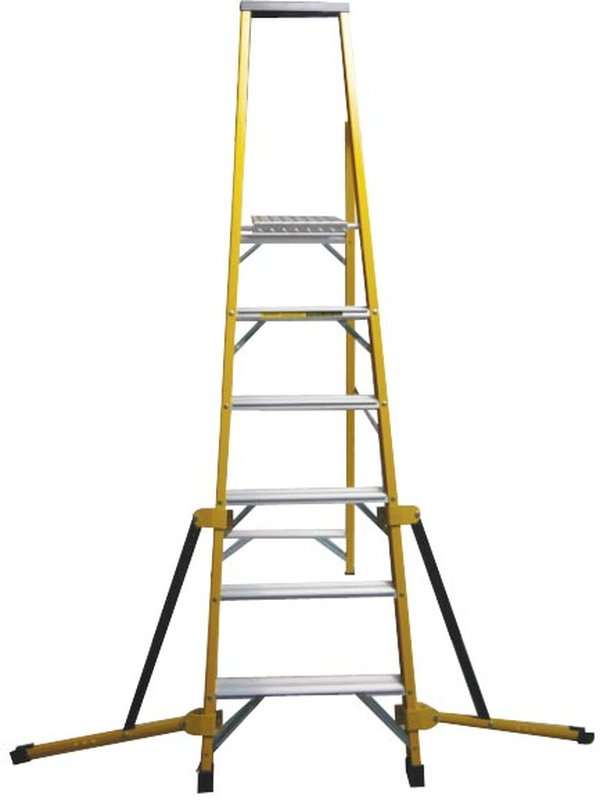 Stabilised stepladder 8 Tread Fibreglass