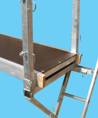 Ladder Staging Equipment: Corner Post single for High Level Working Platform