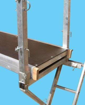 Ladder Staging Equipment: Corner Post double for High Level Working Platform