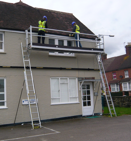 Ladder staging kit High Level Working Platform complete: 3m x 600mm