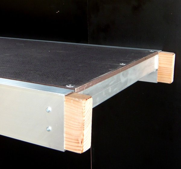 Ladder staging boards for High Level Working Platform: 4m x 600mm with mid board post sockets
