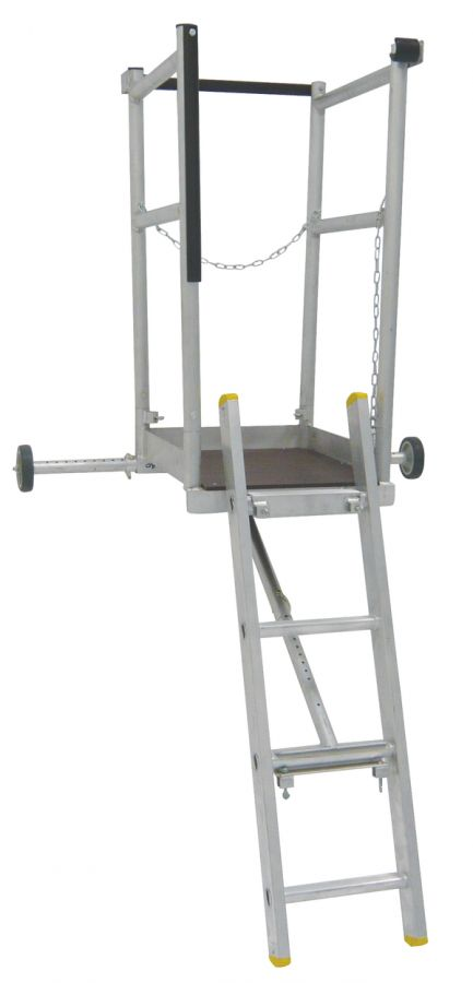 Ladder Crow's Nest and camlock restraint wall tie High Level Working Platform