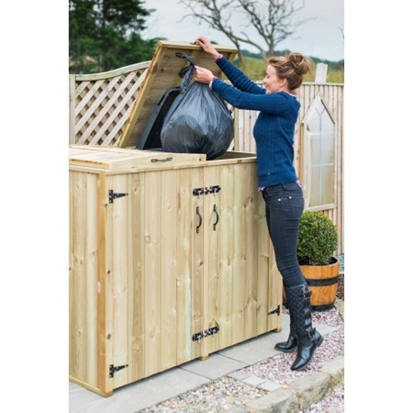 180L Double Chest Wheelie Bin Store