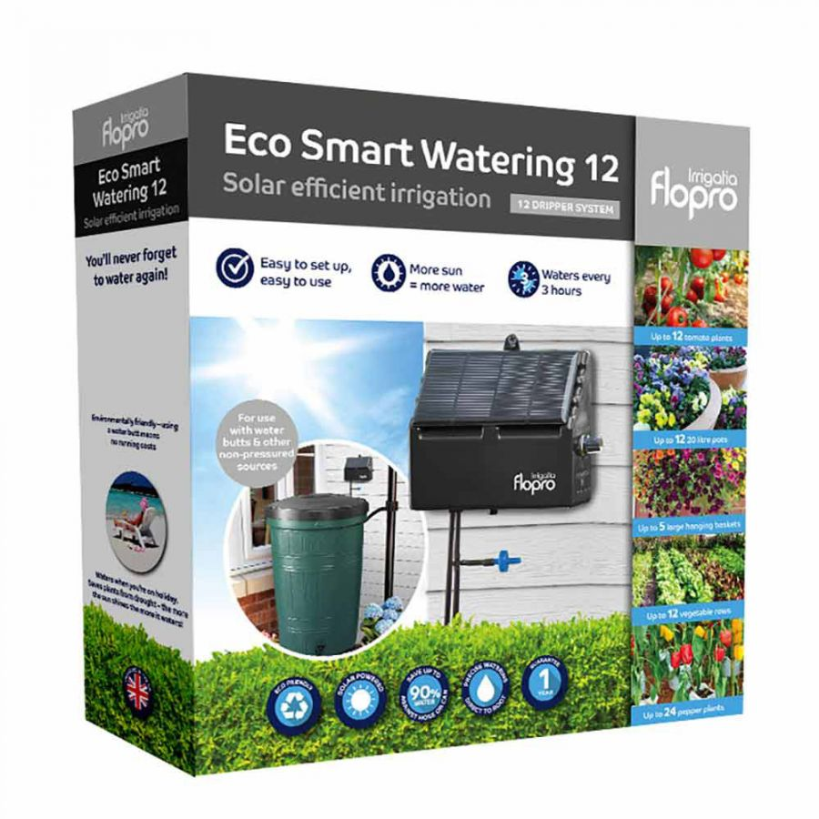 Flopro Eco Smart Watering Solar Irrigation Kit - 12 Drippers