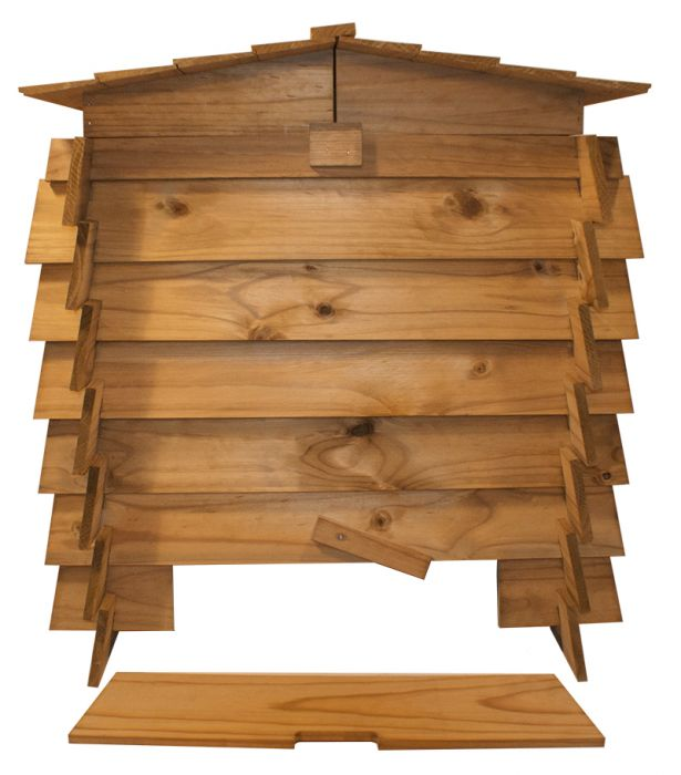 Beehive Wooden Composter with Double Hinged Roof - 328L by Lacewing™