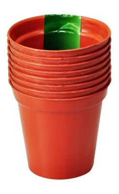 "7.7cm (3"") Pack of 8 Plant Pots"