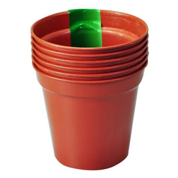 "10cm (4"") Pack of 6 Plant Pots"