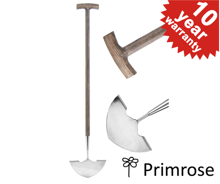Primrose Stainless Steel Edging Knife with Wooden Handle