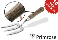 Personalised Primrose Stainless Steel Weed Fork with Wooden Handle