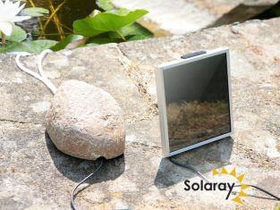 120LPH 2-Stone Solar Oxygenator / Pond Aerator with Pebble Cover by Solaray