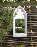 2ft 5in x 10in Large Gothic Arch Outdoor Glass Mirror