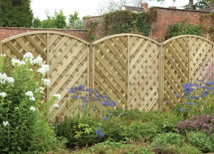 6ft x 6ft Fence Panel Pack of 3 Pressure Treated Decorative Europa Bradville