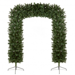 2.4m Pine Effect Christmas Squared Tree Arch