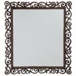 2ft 3in x 1ft 11in Large Rectangular Cast Iron Mirror