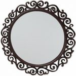 1ft 7in Circular Cast Iron Mirror