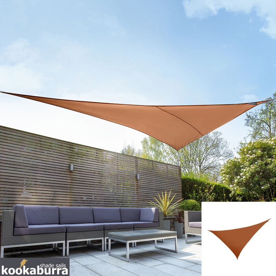 Kookaburra® 6m Right Angle Triangle Terracotta Knitted Breathable Shade Sail (Knitted)