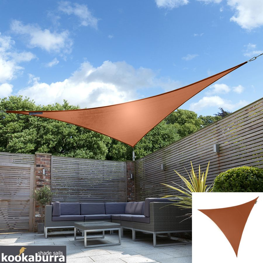 Kookaburra® 2m Triangle Terracotta Breathable Shade Sail (Knitted)