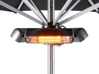 Heatmaster 2.4kW Slimline Super Halogen Bulb Electric Infrared Patio Heater - Ruby