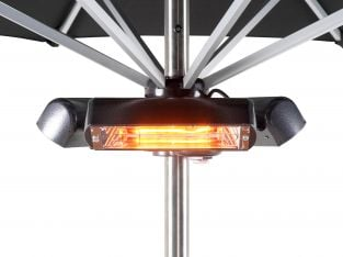 2.4kW Slimline Super Halogen Bulb Electric Infrared Patio Heater - Ruby  by Heatmaster™