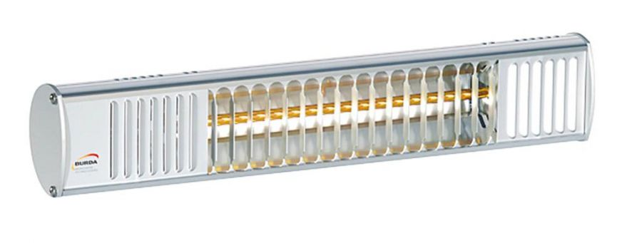 1.5kw Compact Aluminium Splash Proof Infrared Heater with Ultra Low Glare by Burda™