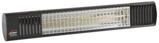 1.5kw Black Waterproof Infrared Heater with Ultra Low Glare by Burda™