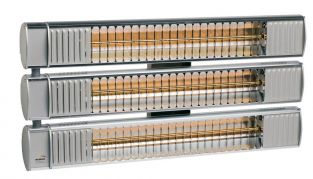 4.95kw Triple Tube Aluminium Infrared Heater with Ultra Low Glare by Burda™