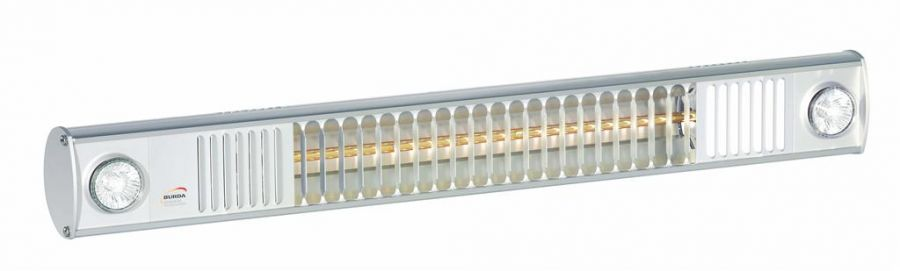 1.65kw Infrared Heater with Lights and Ultra Low Glare by Burda™