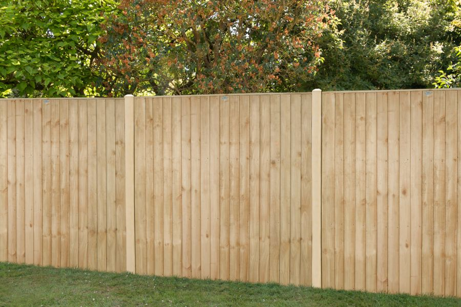 6ft x 6ft Fence Panel Pack of 3 - Pressure Treated Vertical Board