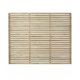 Set of 3 | 6ft x 5ft Slatted Wooden Fence Panel | Pressure Treated