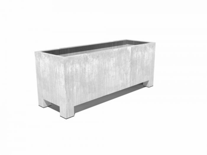 150cm Vadim Galvanised Steel Trough By Adezz